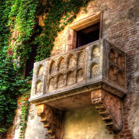 Balkon van Romeo en Juliet in Verona