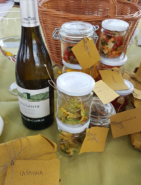 Picknick in de Arnaldo Caprai wijngaard