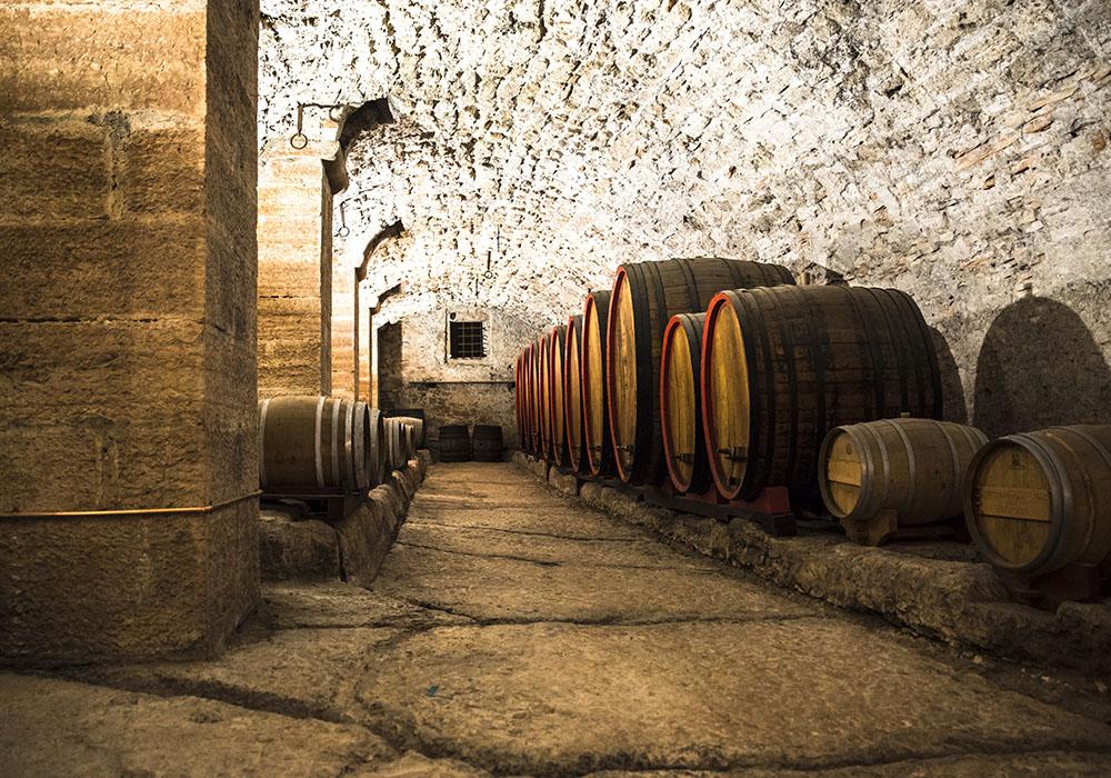 Wijnkelder in Italie
